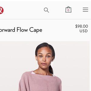 Lululemon gray poncho sweater brand new never worn